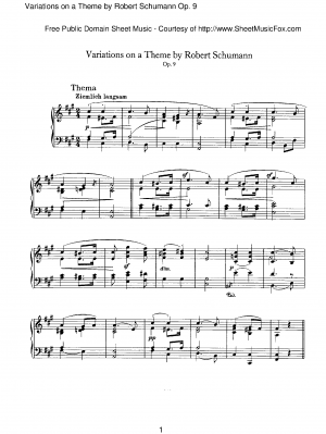 Variations on a Theme by Robert Schumann