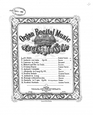 Organ Recital Music