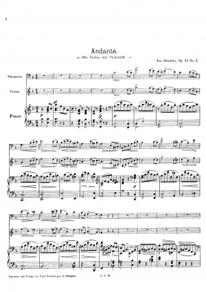 Pieces for Violin and Piano, Op.34