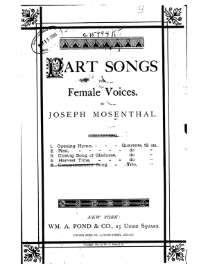 5 Part Songs for Female Voices