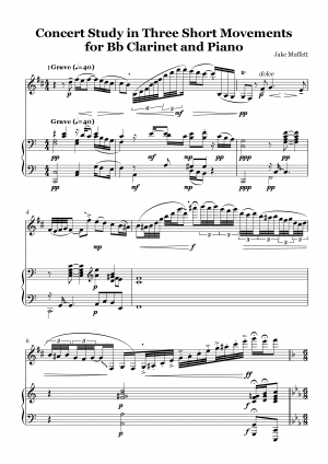 Concert Study in Three Short Movements for Clarinet and Piano