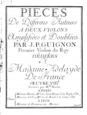Pieces à 2 violons, Op.8