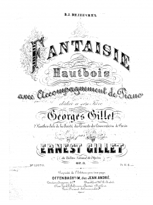 Fantaisie for Oboe and Piano