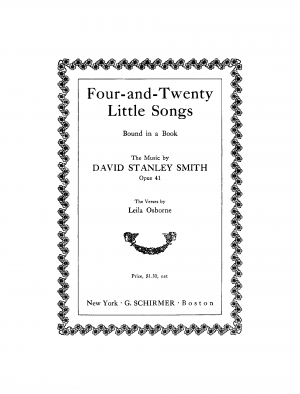 Four-and-Twenty Little Songs Bound in a Book