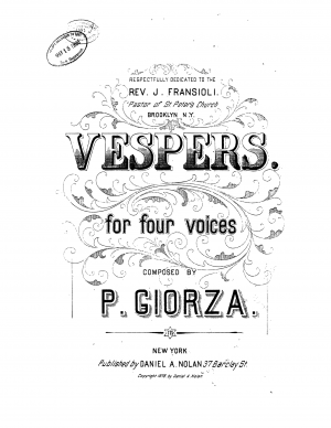 Vespers for 4 Voices