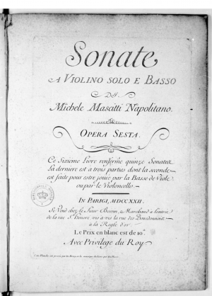 15 violin sonatas and a trio sonata