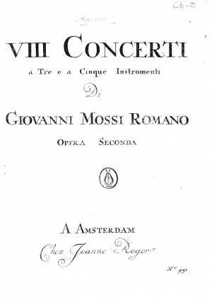 8 Concertos for 3 and 5 Instruments