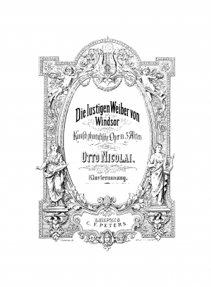 The Merry Wives of Windsor ; Die lustigen Weiber von Windsor ; Les joyeuses commères de Windsor