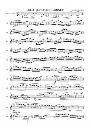Solo piece for clarinet