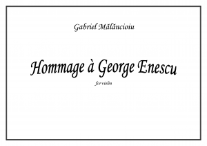 Hommage a George Enescu