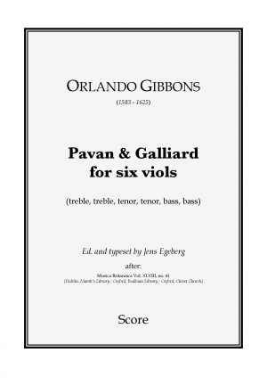 Pavan and Galliard for 6 Viols