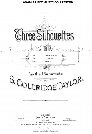 3 Silhouettes for piano, Op.38