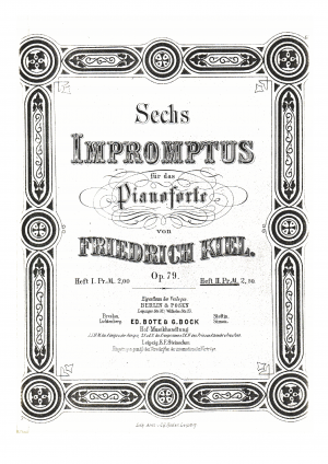 6 Impromptus for Piano