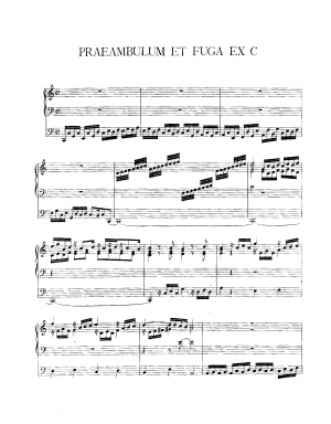 Preambulum and Fugue in C major