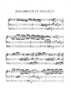 Preambulum and Fugue in C minor