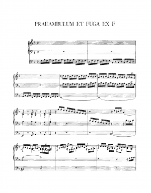Preambulum and Fugue in F major