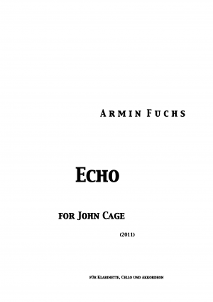 Echo for John Cage (2011)