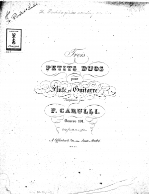 3 Petits Duos for Flute and Guitar