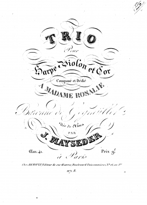 Trio for Harp, Violin and Horn, Op.41