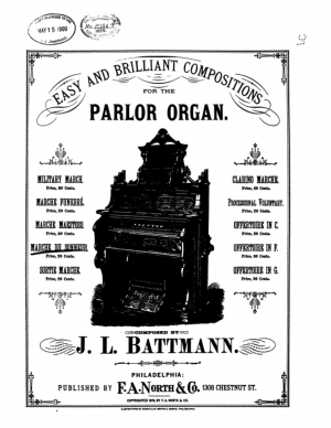 Easy and Brilliant Compositions for Parlor Organ