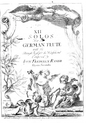 XII Solos for the German Flute with the Thorough Bass for the Harpsicord