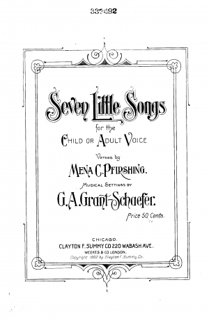 Seven Little Songs for the Child or Adult Voice