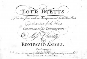 Four Duetts. The two first with an Accompaniment for the Piano Forte and the two last for the Harp