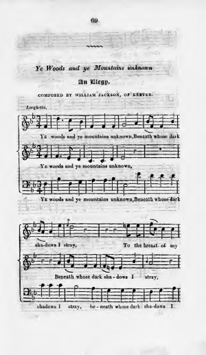 Elegies composed by William Jackson of Exeter