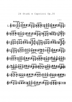 24 Etudes or Caprices, Op.35