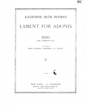 Lament for Adonis