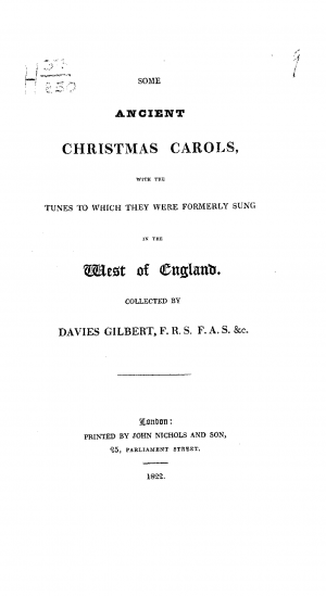 Some Ancient Christmas Carols