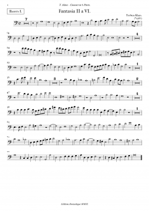 Fantasies for 6 Viols