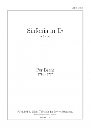 Sinfonia in D in 4 Voices