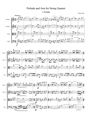 Prelude and Aria for String Quartet