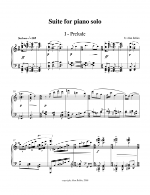 Suite for solo piano