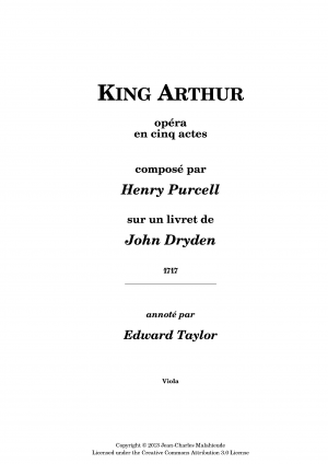 King Arthur, or The British Worthy