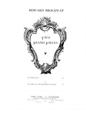Two Piano Pieces