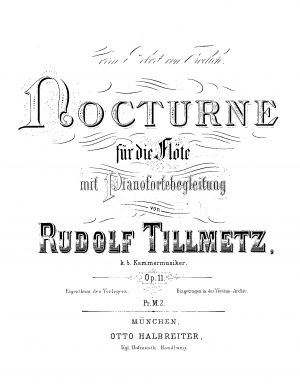 Nocturne for Flute and Piano, Op.11