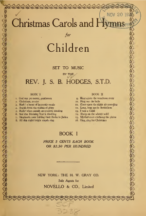 Christmas Carols and Hymns for Children