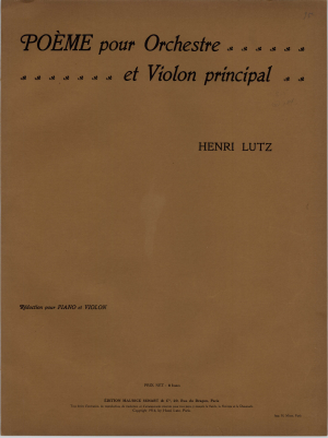 Poeme for Orchestra and Violin principal