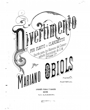Divertimento for Flute, Clarinet and Piano