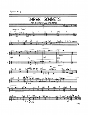 Sonnets for Baritone and Orchestra