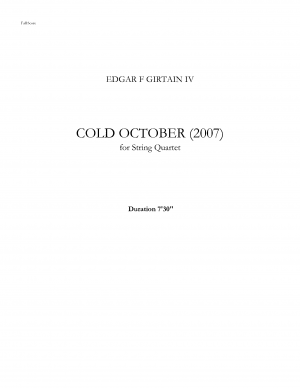 Cold October