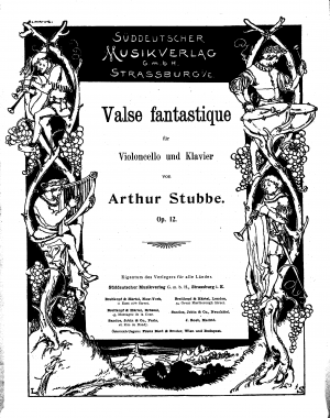Valse Fantastique,Op.12 for Cello and Piano