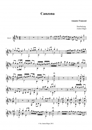 Canzona in F major