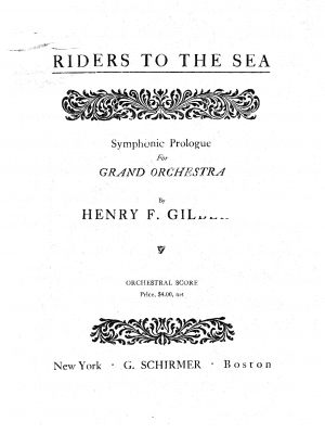 Symphonic prologue to Riders to the sea