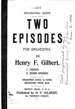 Two Episodes for Orchestra