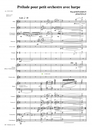 Prelude for Chamber Orchestra