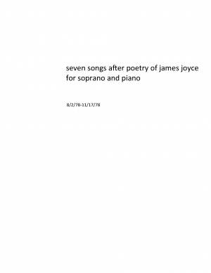 7 Songs after Poetry of James Joyce