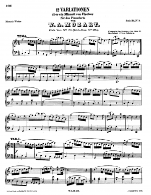 12 Variations on a Minuet by Fischer